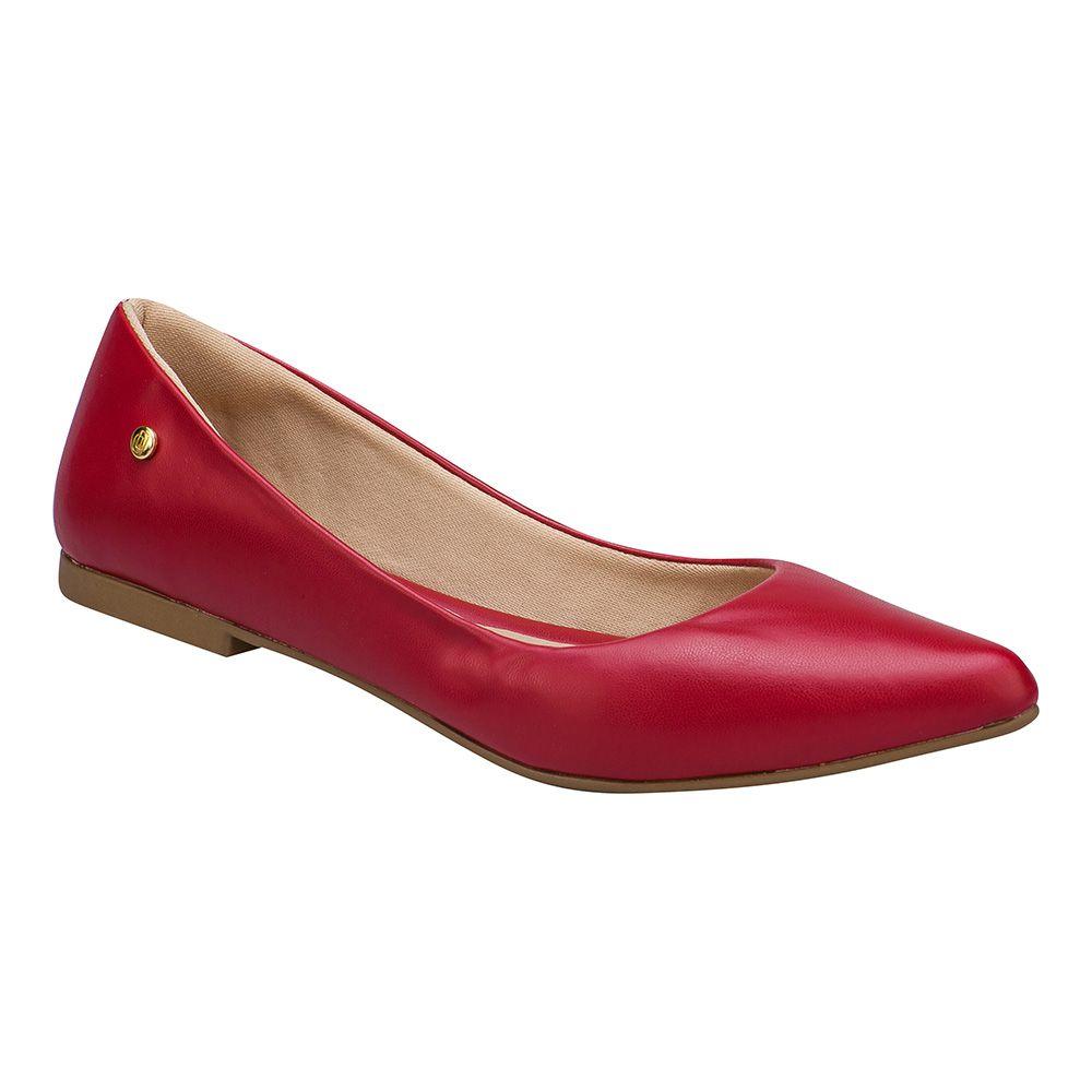 Sapatilha Feminina Bico Fino 118.10.012   Vermelha