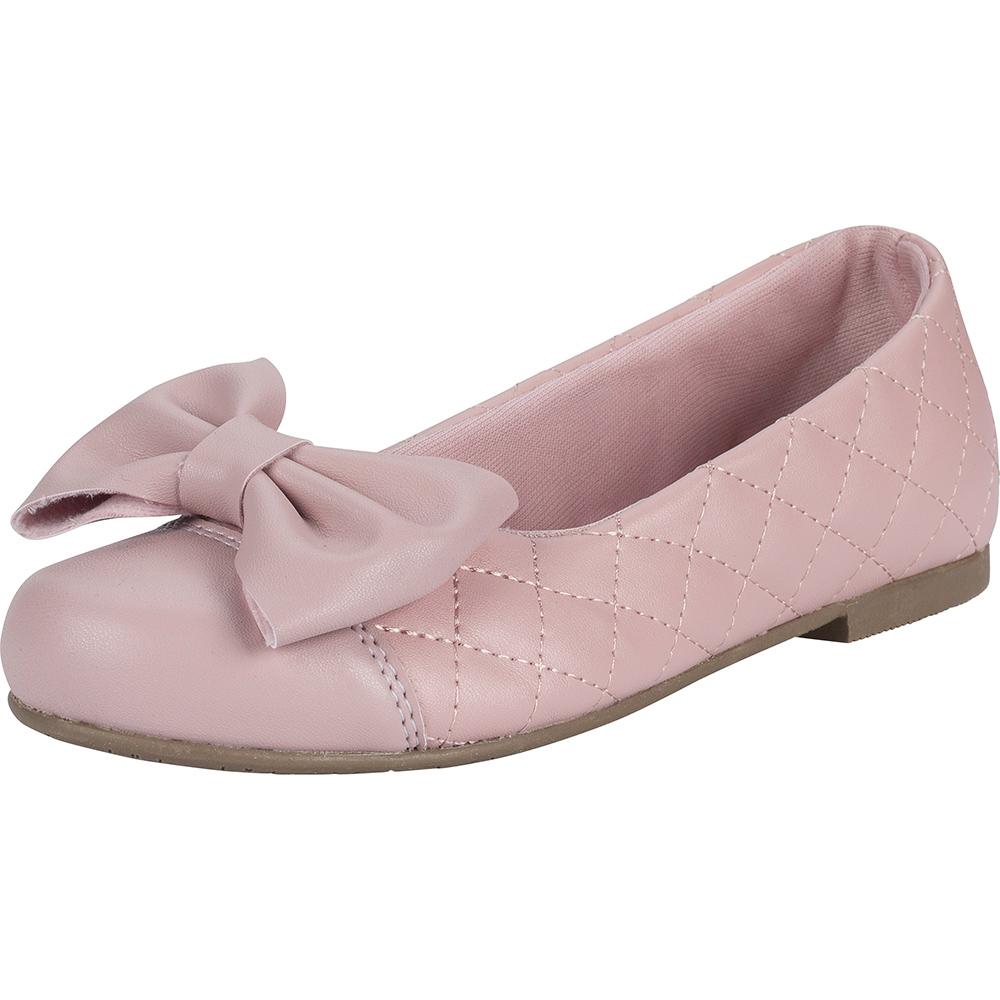 Sapatilha Infantil Menina Fashion Matelassê Laço 83.38.002   Rosa