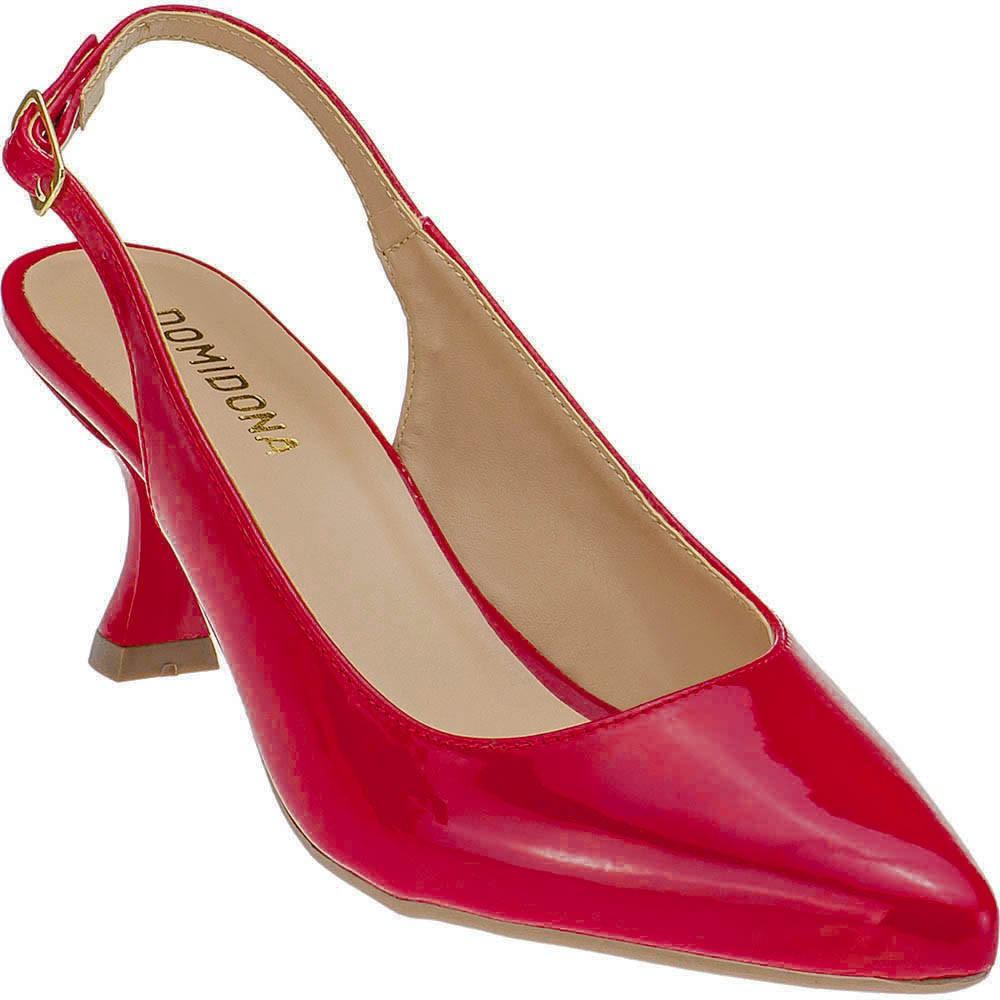Scarpin Feminino Salto Taça Chanel Domidona 120.22.012   Vermelho