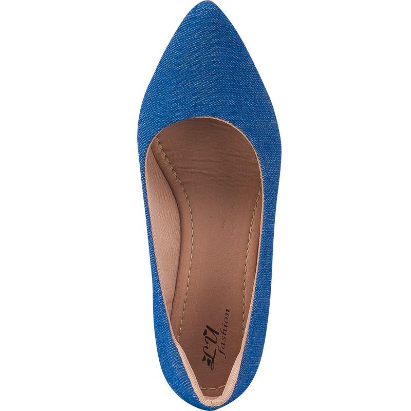 Scarpin Salto Grosso 120.01.031 | Azul Jeans