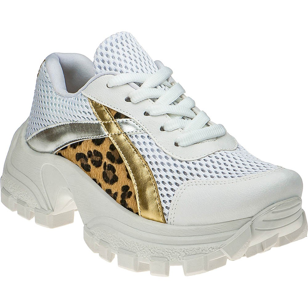 Tênis Buffalo Chunky Sneakers Domidona Confortável Feminino 141.02.001 | Branco