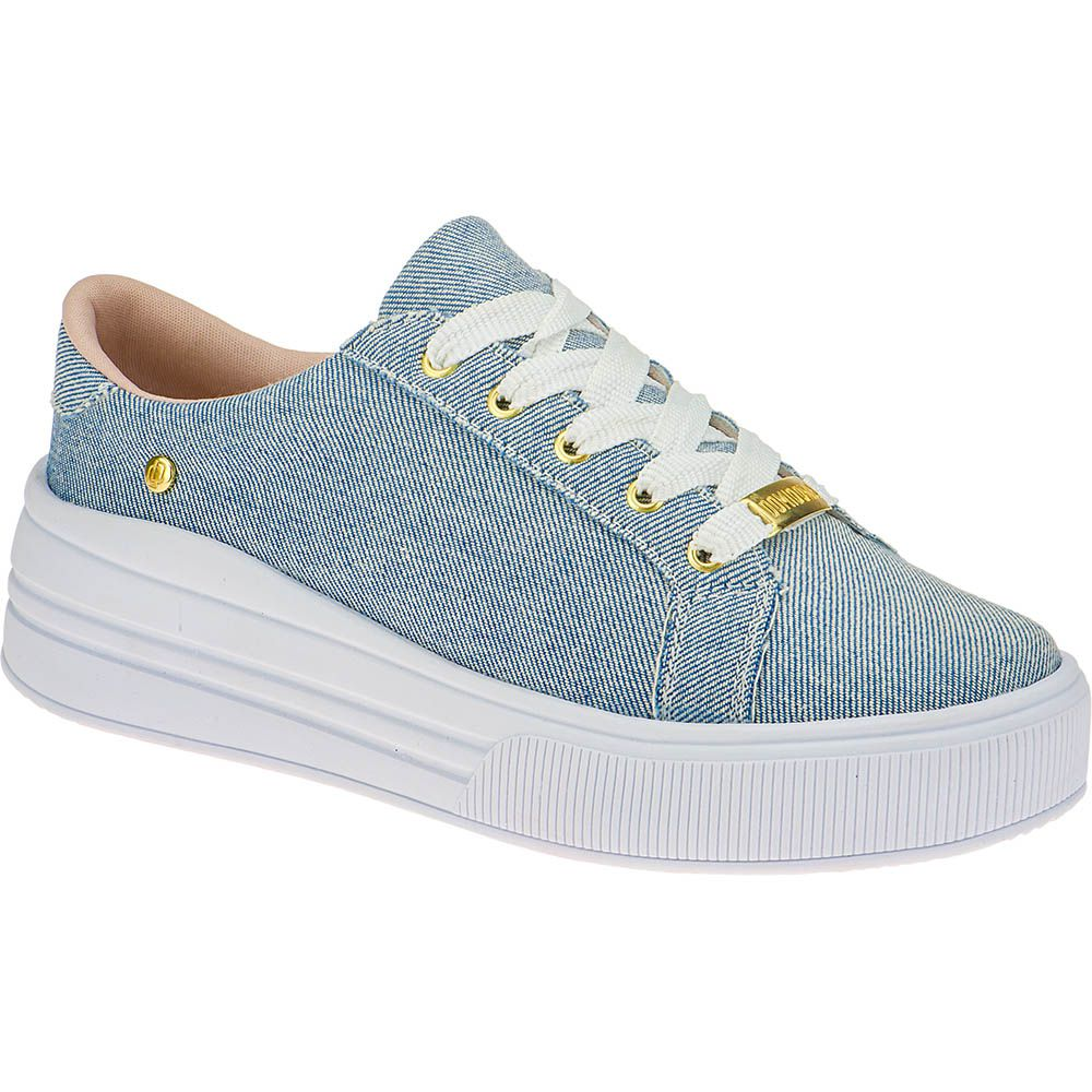 Tênis Casual Feminino Flatform Domidona Plataforma 160.01.031 | Jeans Azul