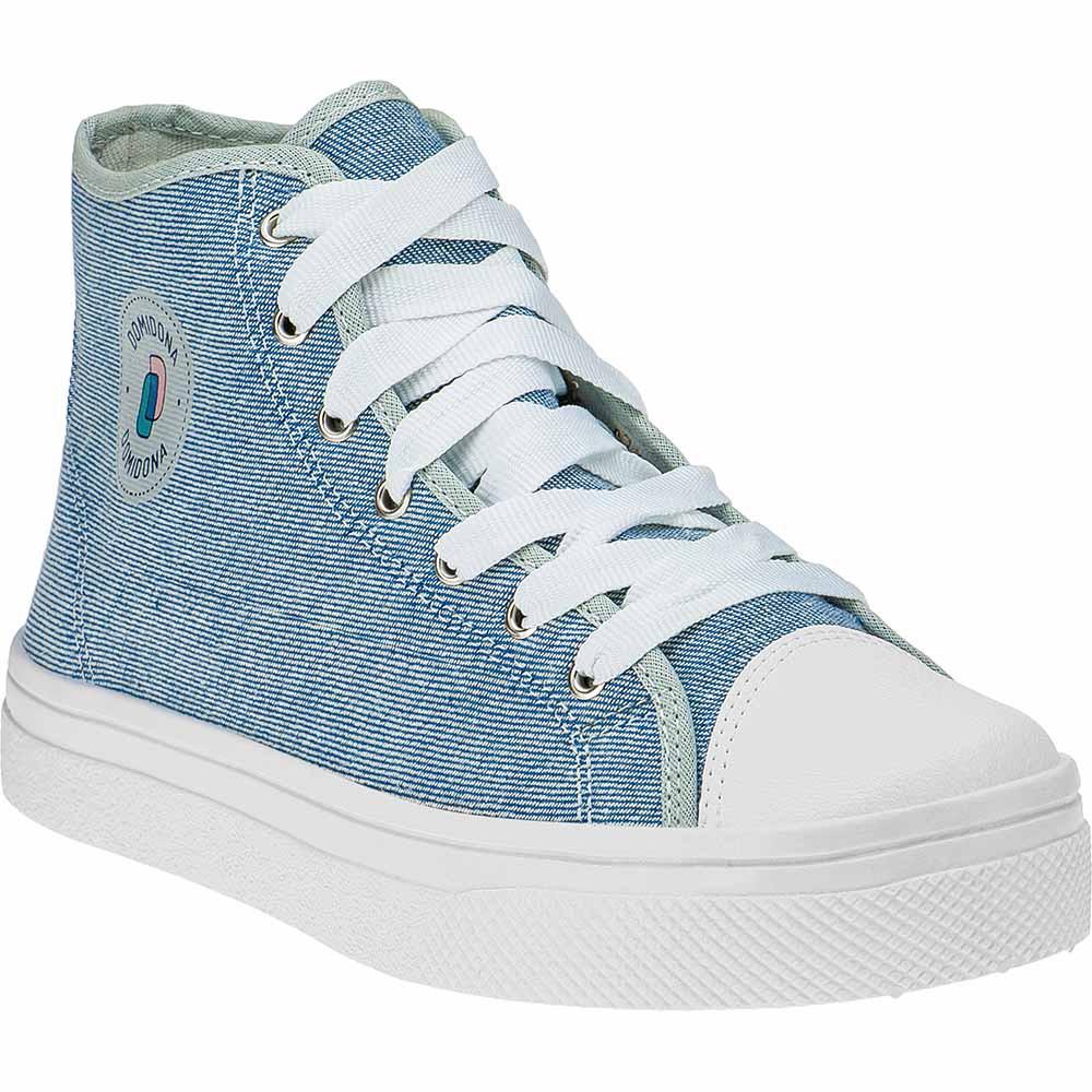 Tênis Feminino Casual Lona Domidona Cano Alto 142.01.031 | Jeans
