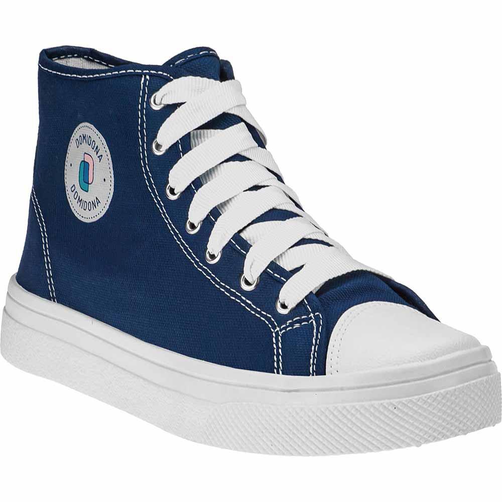 Tênis Feminino Casual Lona Domidona Cano Alto 142.01.040 | Azul Marinho