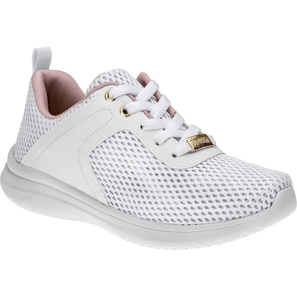Tênis Feminino Casual Domidona Jogging 143.01.001 | Branco