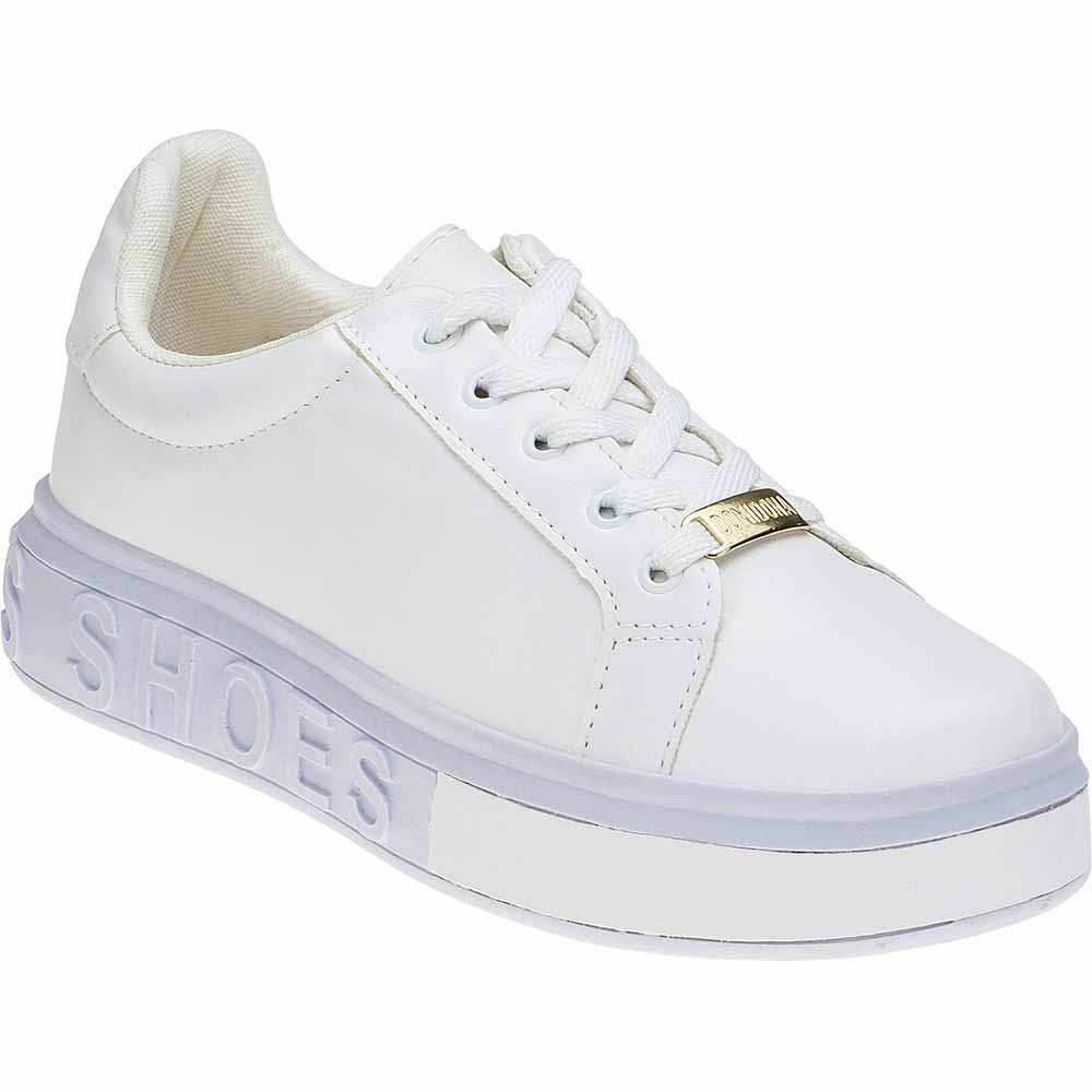 Tênis Feminino Casual Domidona Sneakers It Shoes 111.46.001 | Branco
