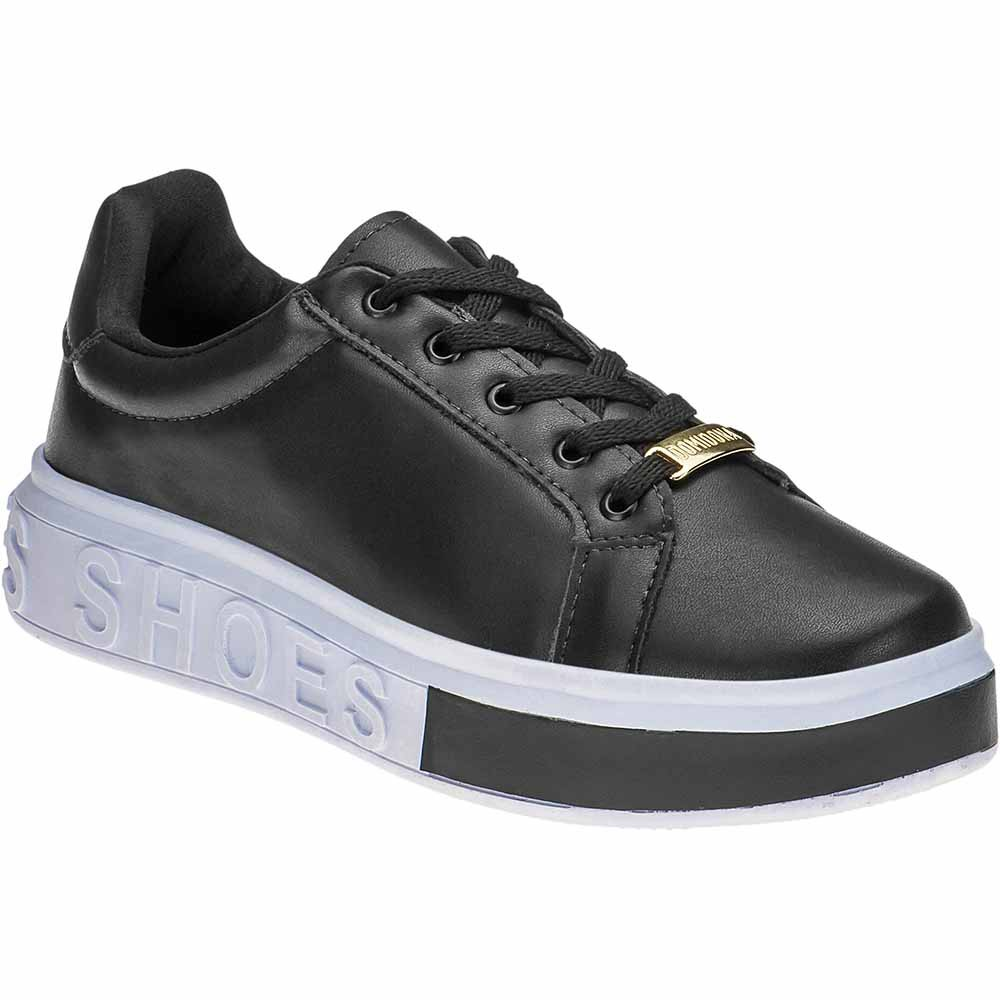 Tênis Feminino Casual Domidona Sneakers It Shoes 111.46.009 | Preto