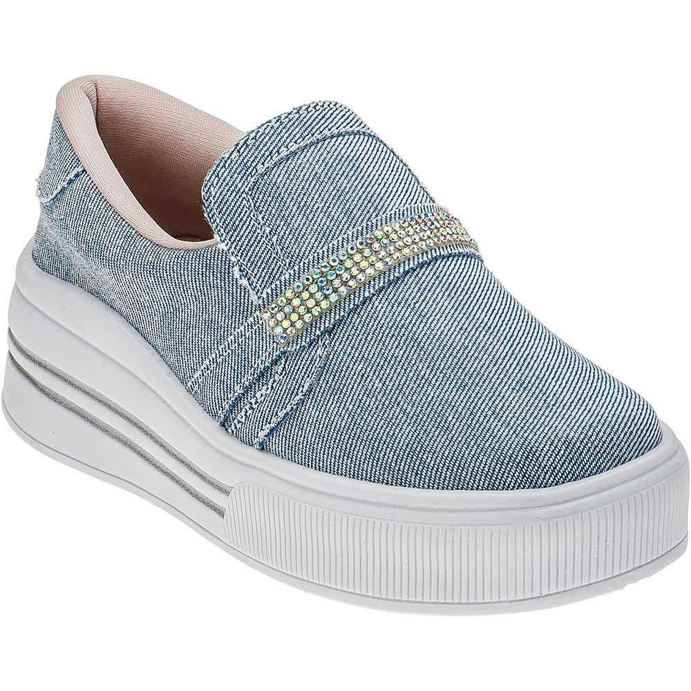 Tênis Iate Feminino Strass Infantil Plataforma 145.25.031 | Jeans