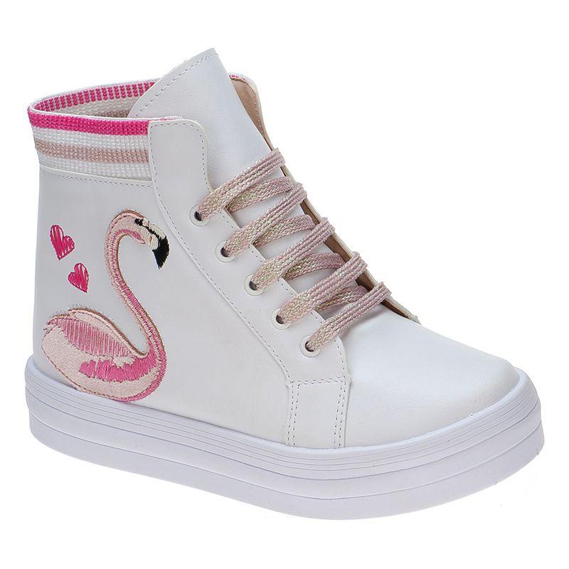 Tênis Infantil Cano Alto Flamingo 155.127.001 | Branco