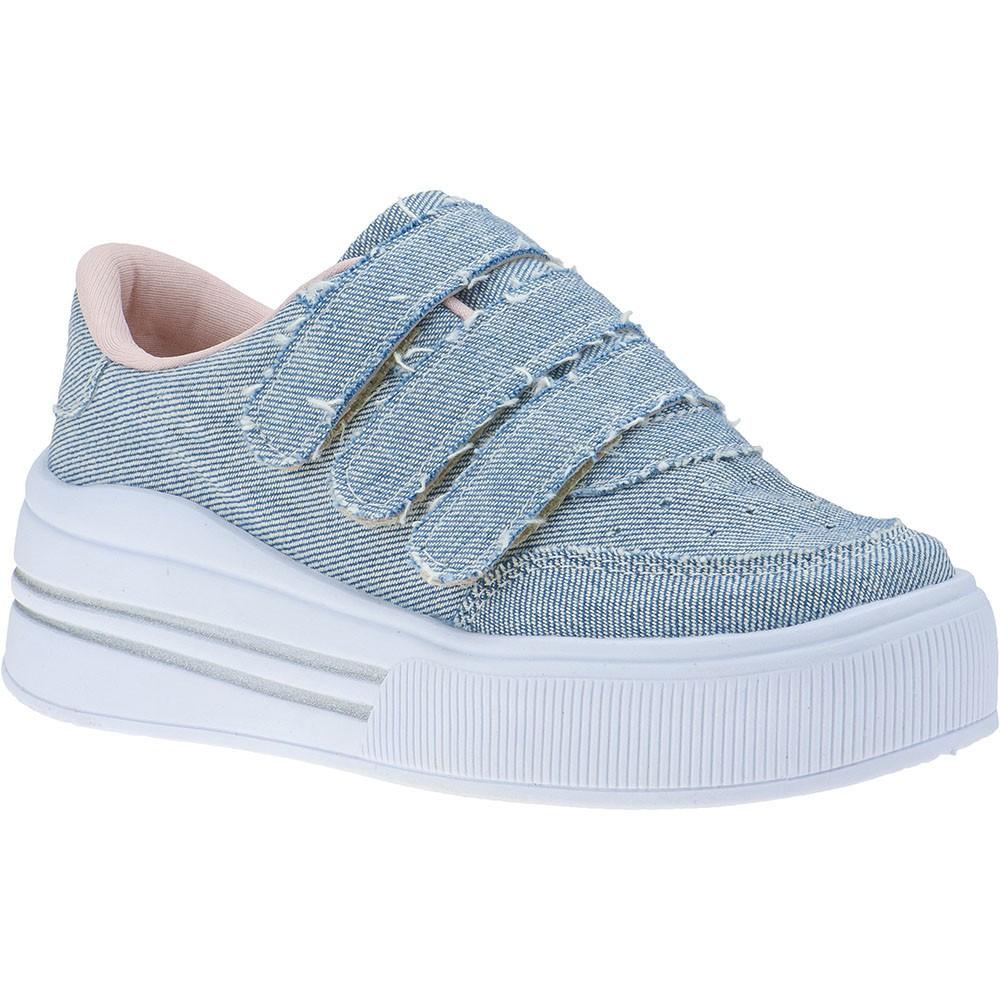 Tênis Infantil Feminino Menina Fashion Velcro com Glitter 145.09.031 | Jeans