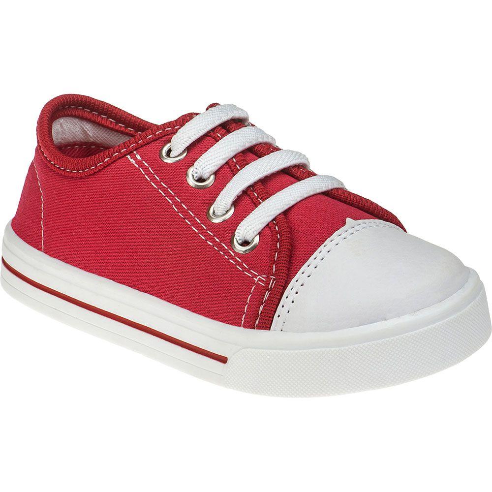 Tênis Infantil Menina Fashion Calce Fácil Com Elástico 157.44.012 | Vermelho