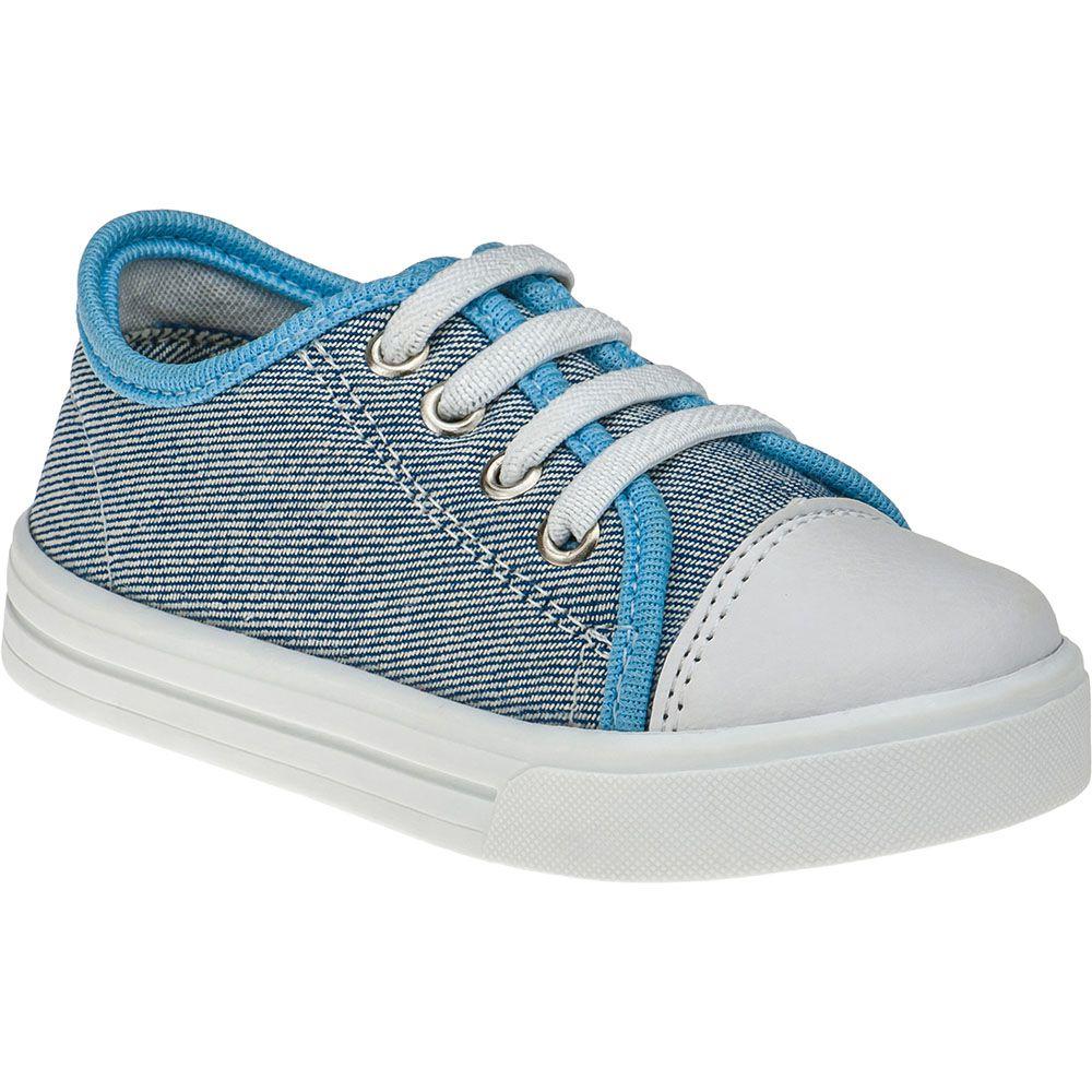 Tênis Infantil Menina Fashion Calce Fácil Com Elástico 157.44.031 | Jeans Azul Claro