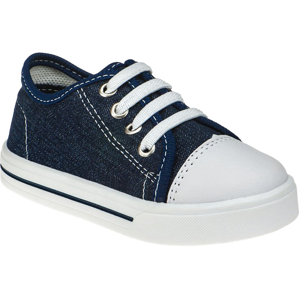 Tênis Infantil Pé com Passo Calce Fácil Com Elástico 157.44.040   Jeans Azul Marinho
