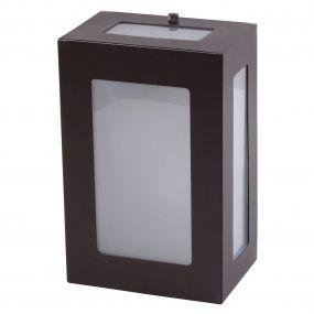 Arandela 5 Vidros Luminária Externa Interna Muro Parede Alumínio Marrom - Rei da Iluminação
