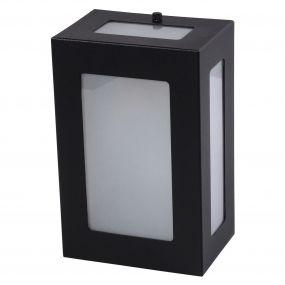 Arandela 5 Vidros Luminária Externa Interna Muro Parede Alumínio Preto - Rei da Iluminação