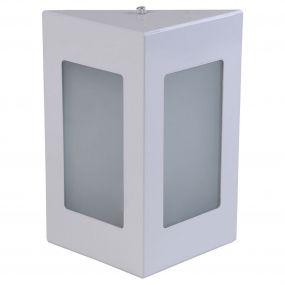 Arandela Triângular Luminária Externa Interna Muro Parede Alumínio Branco - Rei da Iluminação