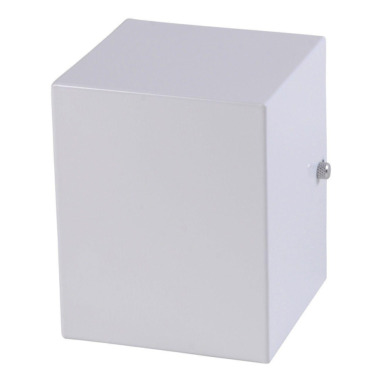 Arandela 1 Facho Um Foco Luminária Externa Interna Muro Parede Alumínio Branco - Rei da Iluminação