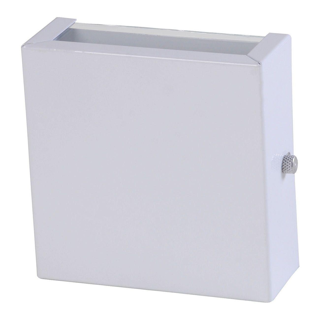 Arandela 2 Fachos Slim Luminária Externa Interna Muro Parede Alumínio Branco - Rei da Iluminação