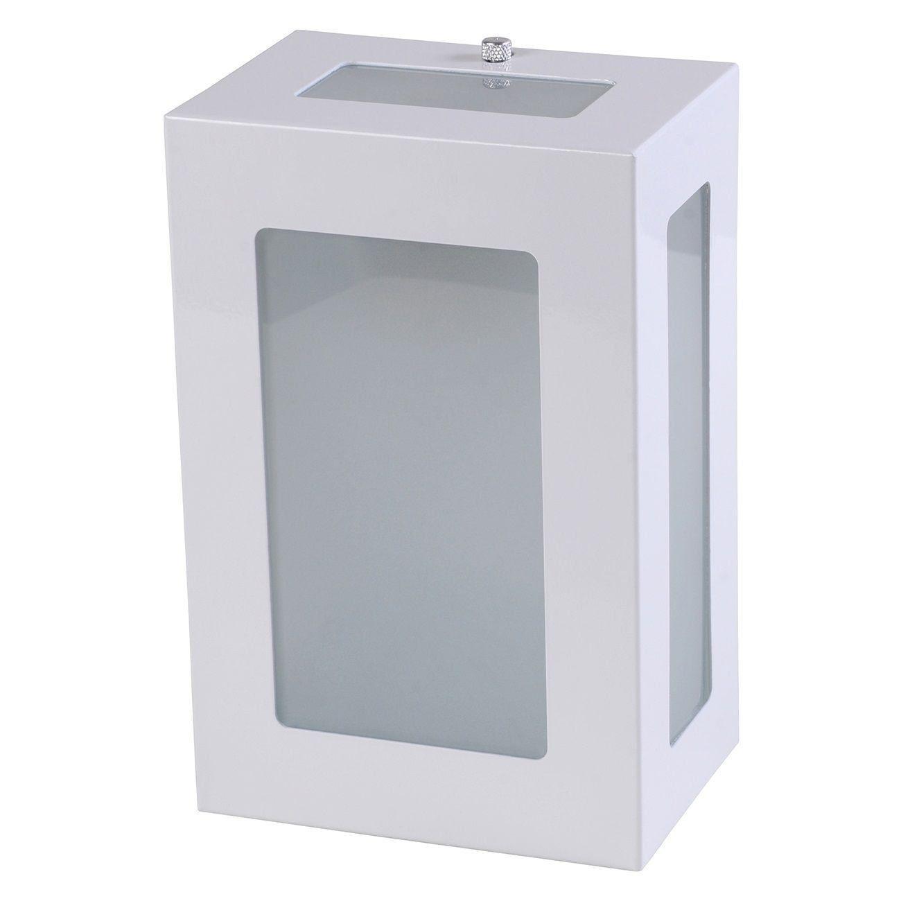 Arandela 5 Vidros Luminária Externa Interna Muro Parede Alumínio Branco - Rei da Iluminação
