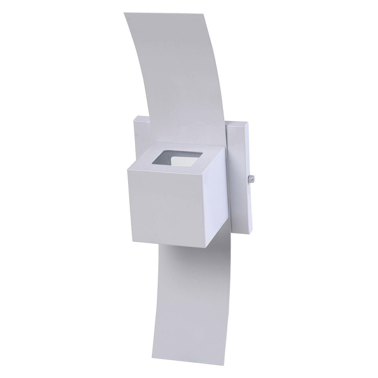 Arandela Box com Aba 2 Focos Luminária Externa Interna Muro Parede Alumínio Branco - Rei da Iluminação