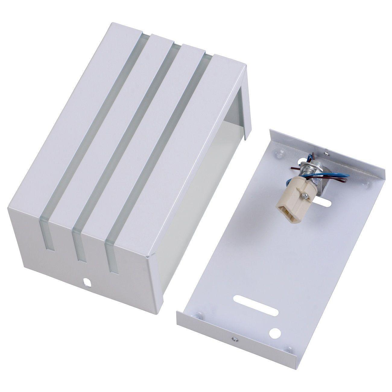 Arandela Frisada 15cm Friso Luminária Externa Interna Muro Parede Alumínio Branco - Rei da Iluminação