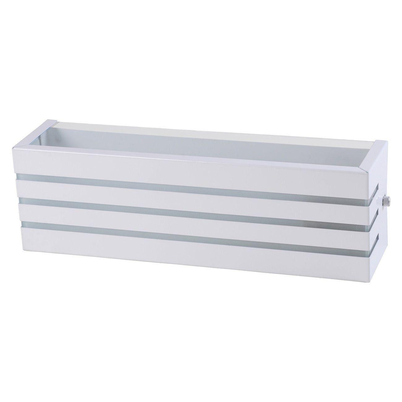 Arandela Frisada 30cm Friso Luminária Externa Interna Muro Parede Alumínio Branco - Rei da Iluminação