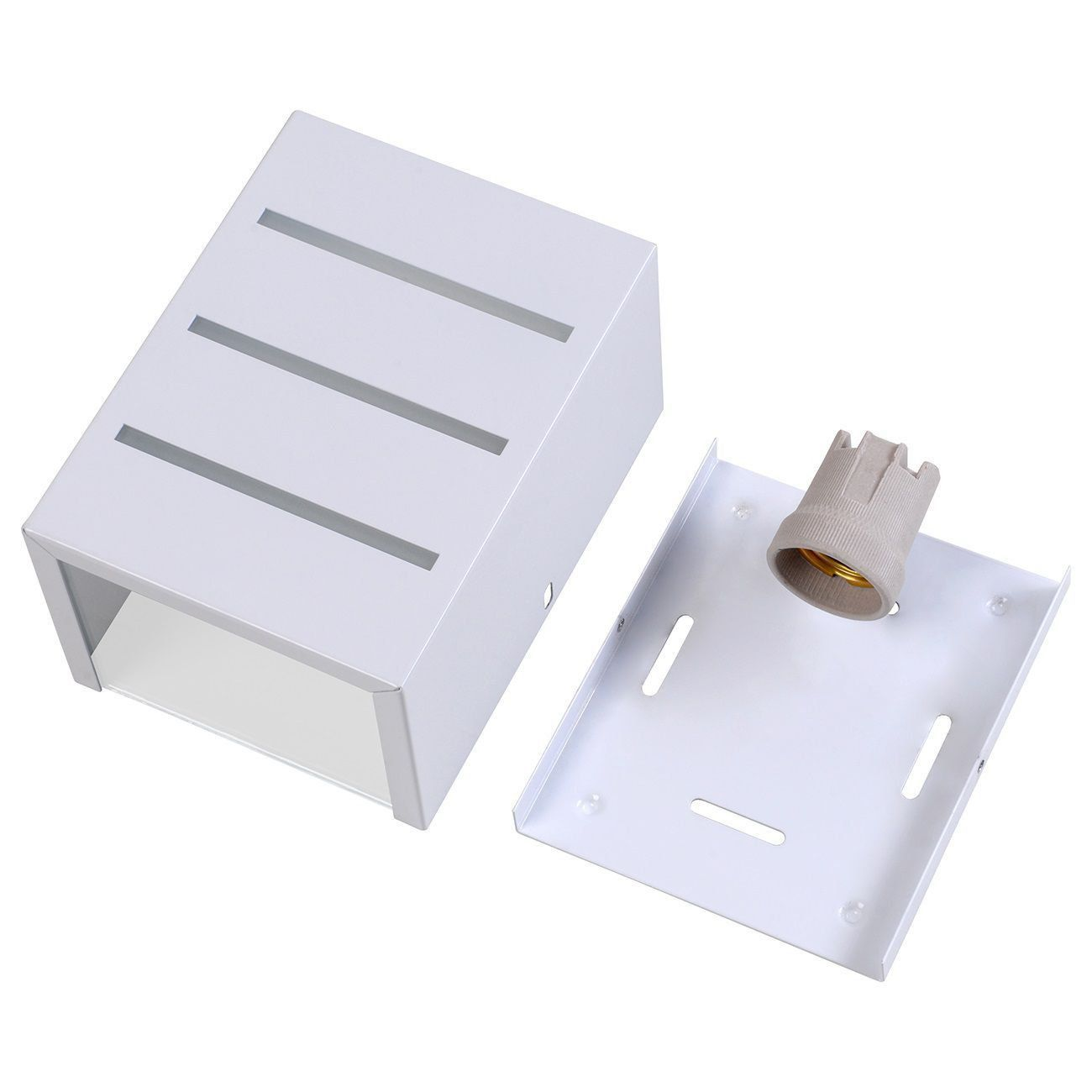 Arandela Friso Frisada Luminária Externa Interna Muro Parede Alumínio Branco - Rei da Iluminação