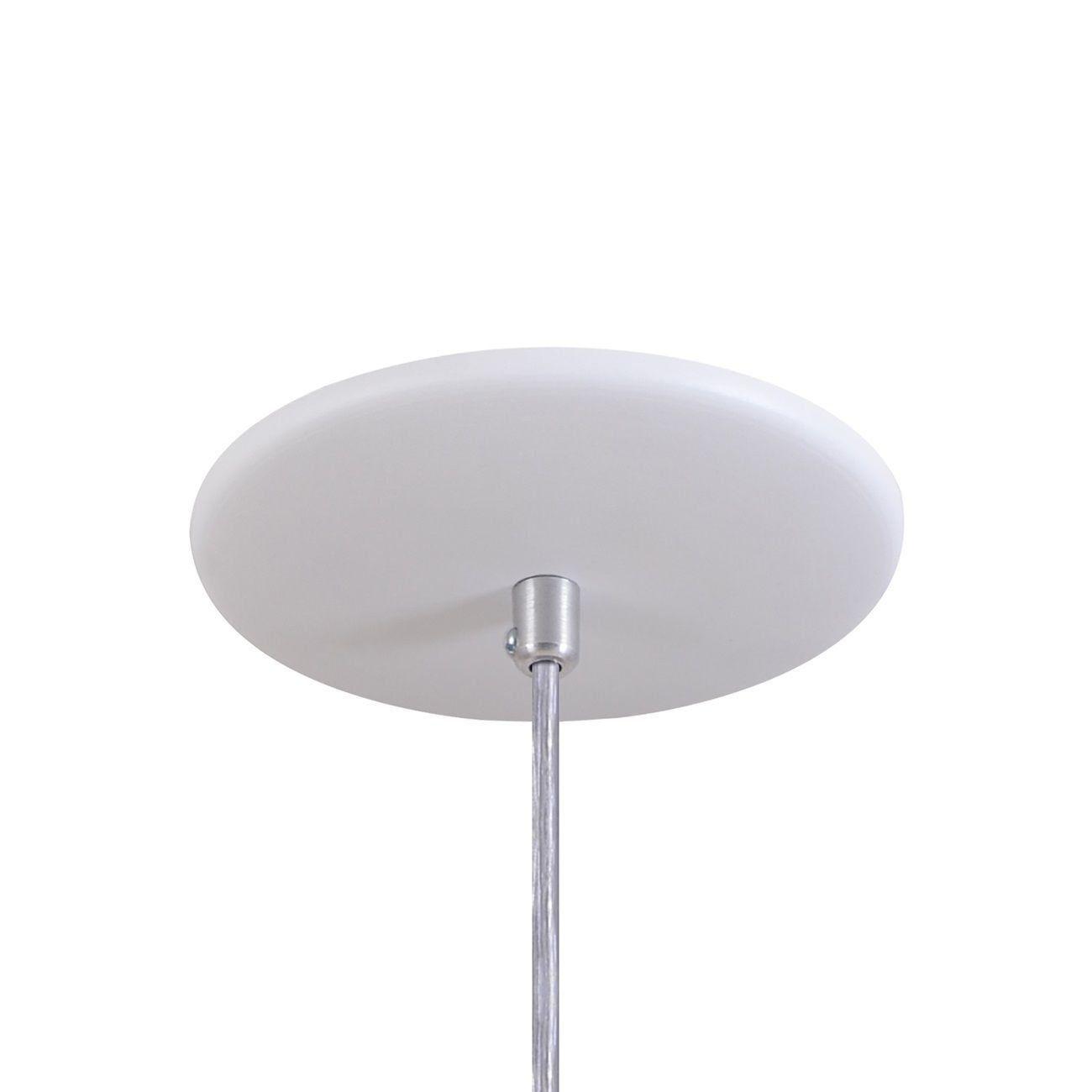 Pendente Bala Luminária Lustre Alumínio Branco Textura - Rei Da Iluminação