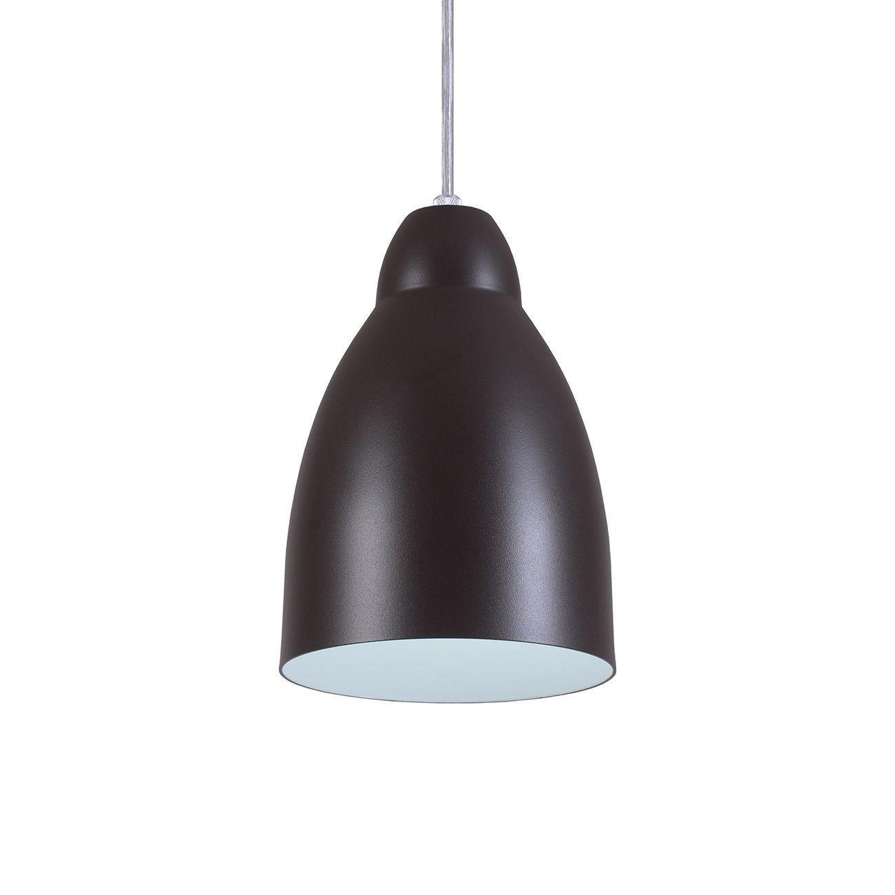 Pendente Bala Luminária Lustre Alumínio Marrom Tabaco Textura - Rei Da Iluminação