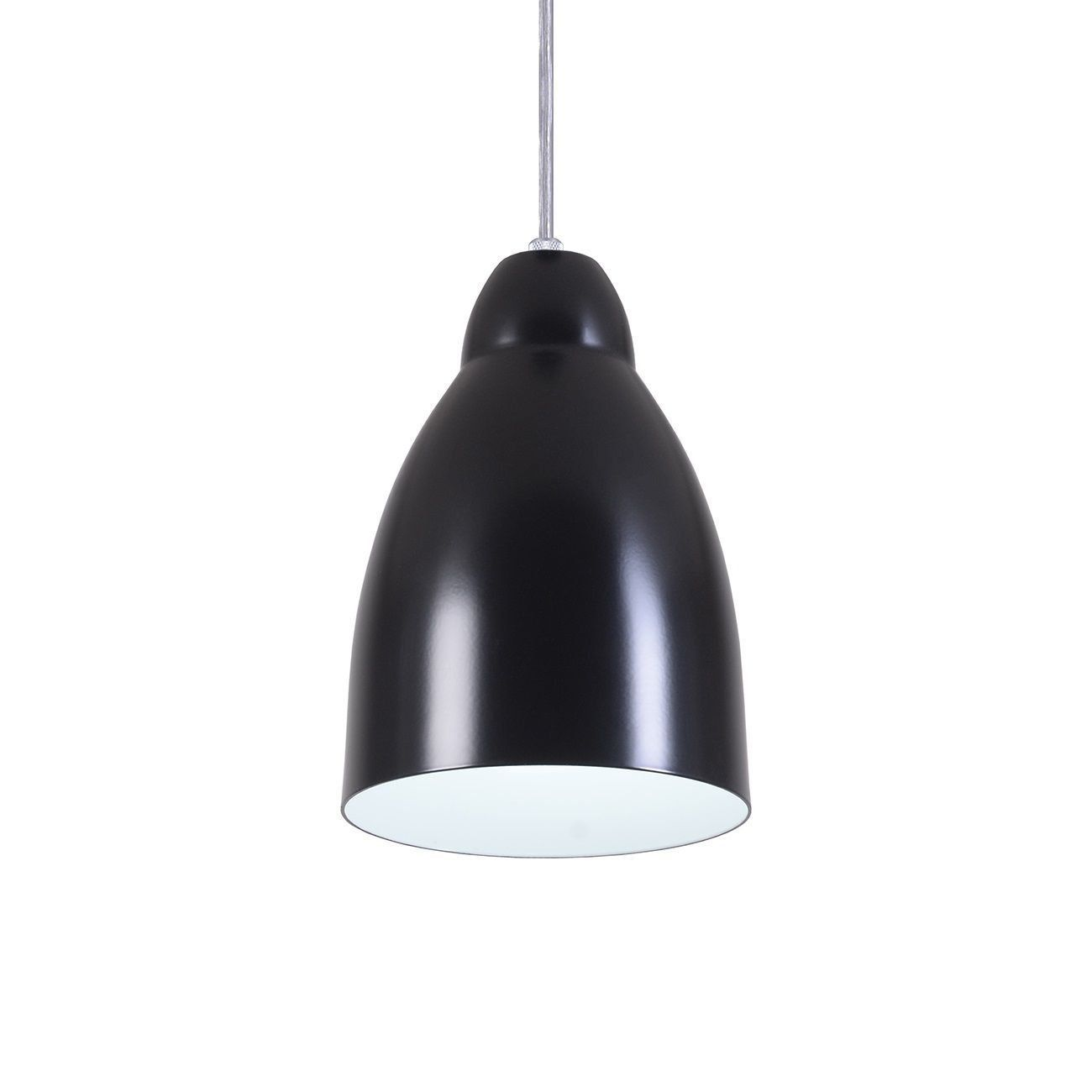 Pendente Bala Luminária Lustre Alumínio Preto Fosco - Rei Da Iluminação