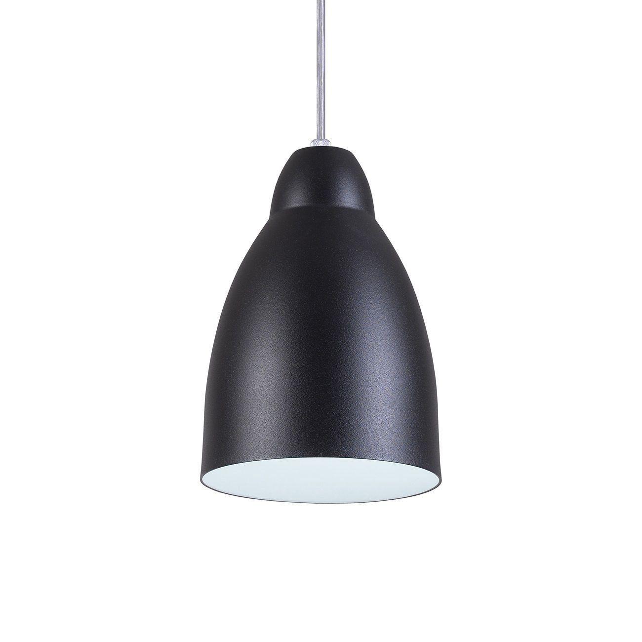 Pendente Bala Luminária Lustre Alumínio Preto Textura - Rei Da Iluminação