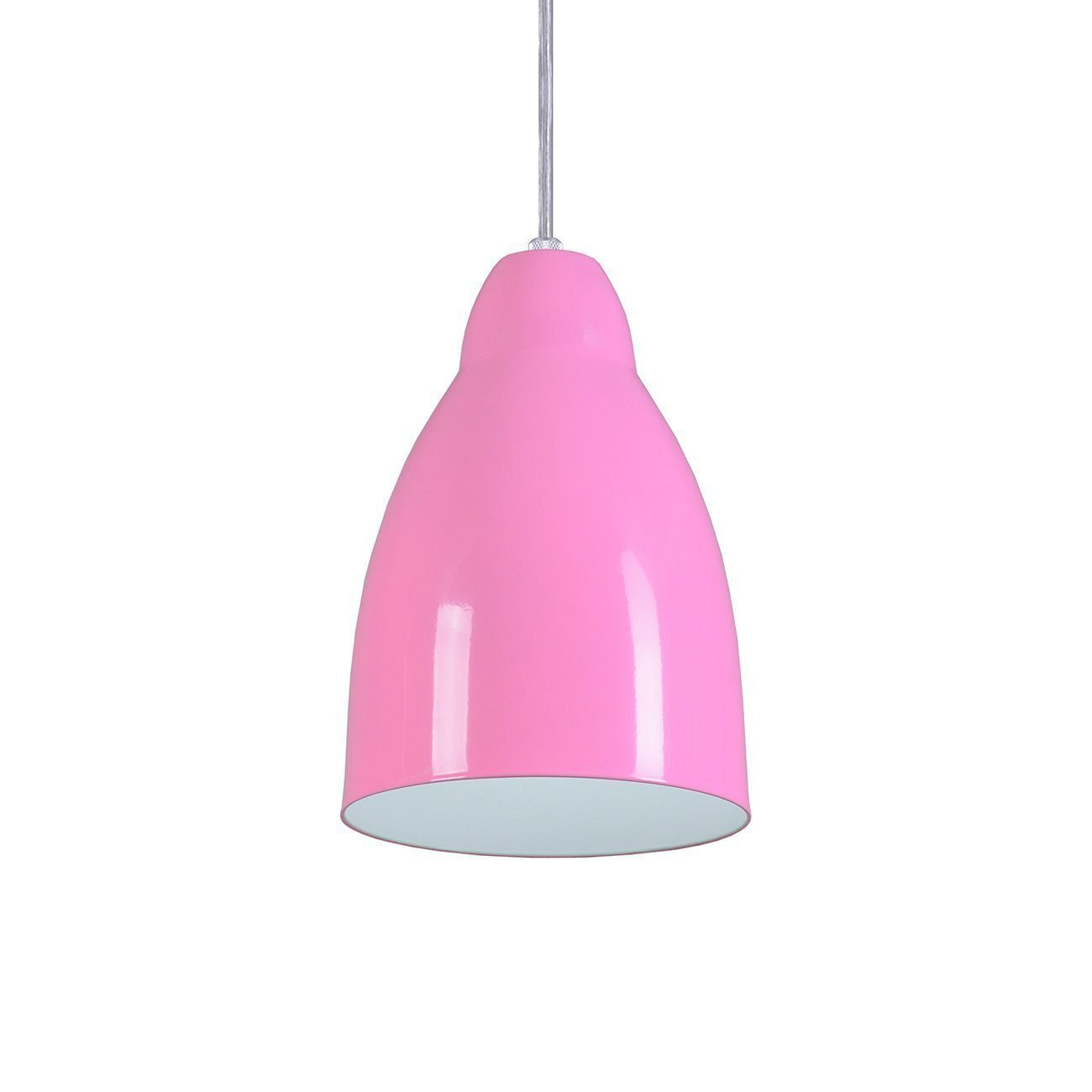 Pendente Bala Luminária Lustre Alumínio Rosa - Rei Da Iluminação