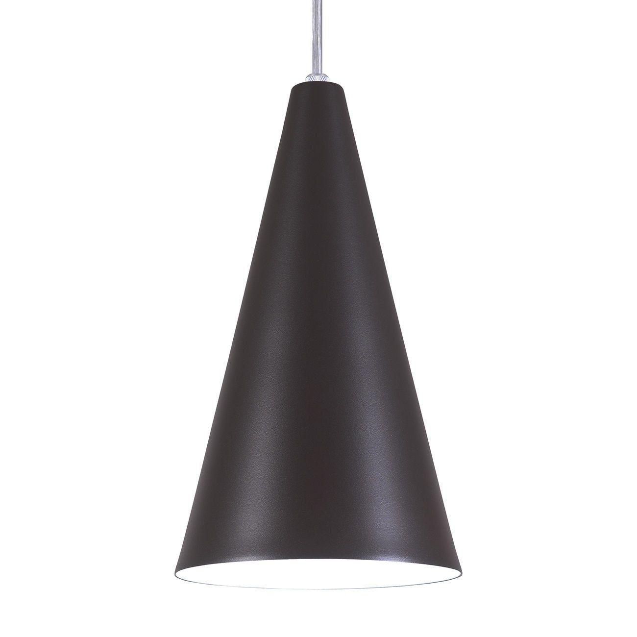 Pendente Cone Luminária Lustre Alumínio Marrom Tabaco Textura - Rei Da Iluminação