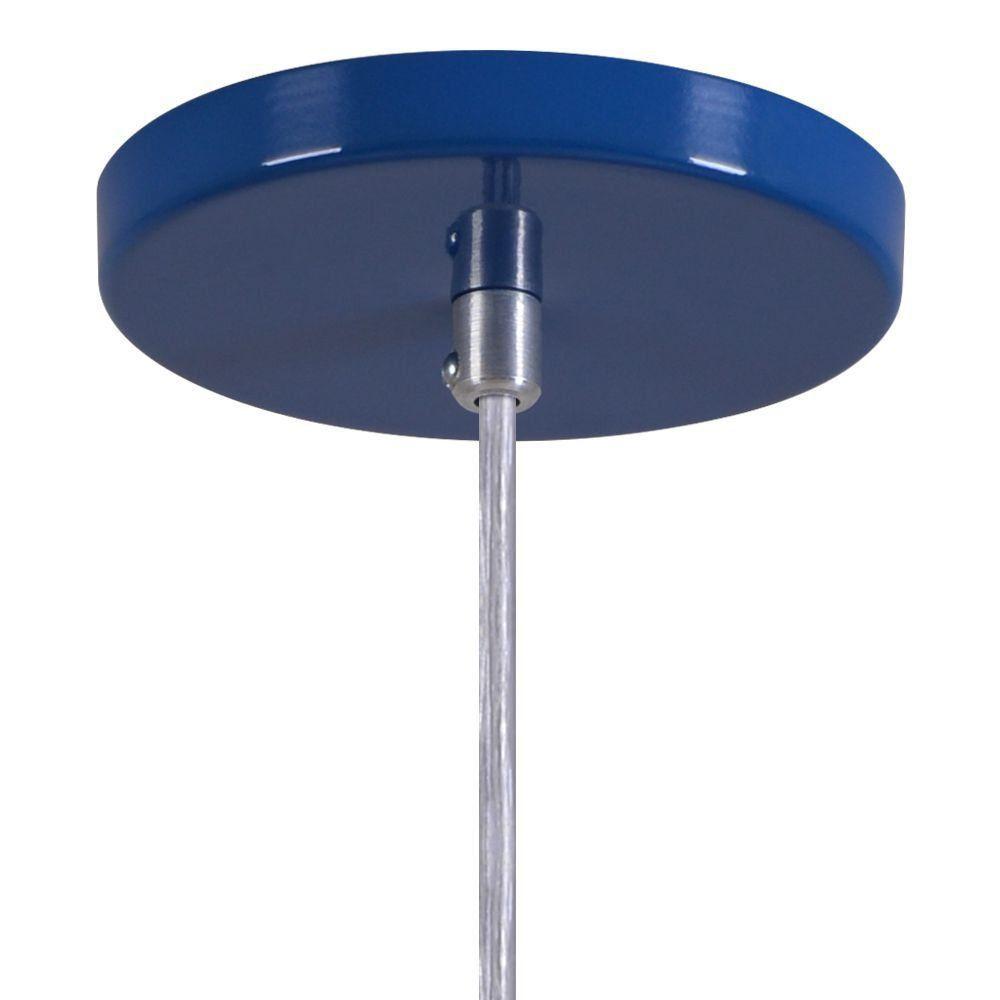 Pendente Copinho Soquete Luminária Lustre Alumínio Azul Royal - Rei Da Iluminação