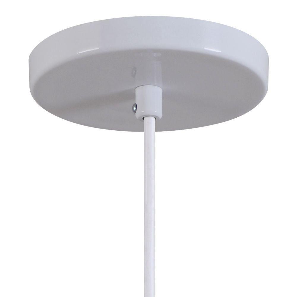 Pendente Copinho Soquete Luminária Lustre Alumínio Branco Brilhante - Rei Da Iluminação