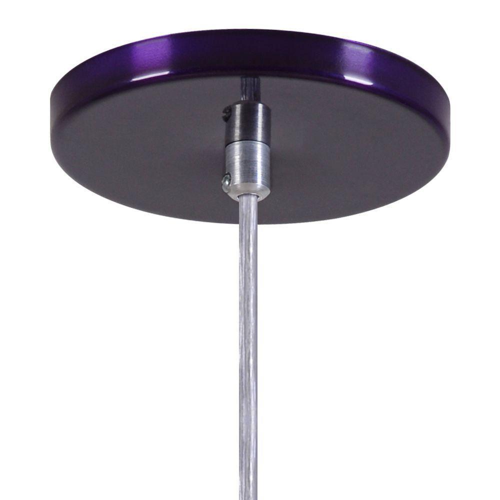 Pendente Copinho Soquete Luminária Lustre Alumínio Roxo Verniz - Rei Da Iluminação