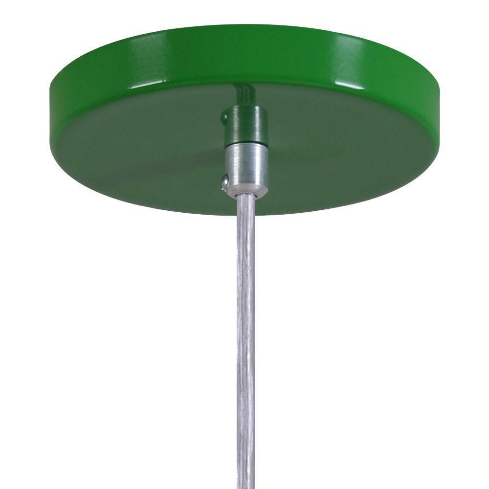 Pendente Copinho Soquete Luminária Lustre Alumínio Verde - Rei Da Iluminação