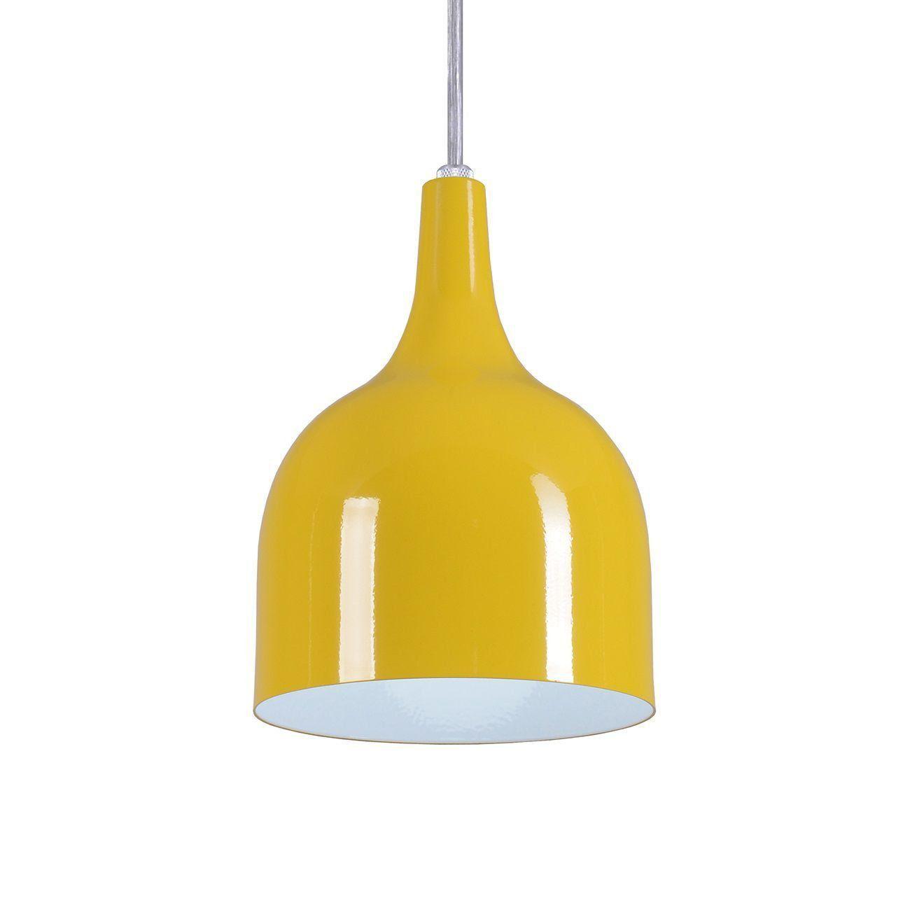 Pendente Gota Teat Luminária Lustre Alumínio Amarelo - Rei Da Iluminação
