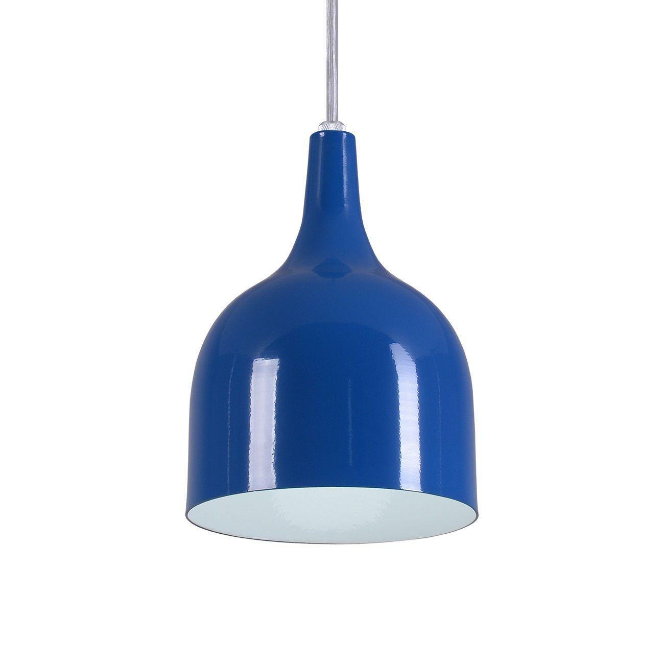 Pendente Gota Teat Luminária Lustre Alumínio Azul Royal - Rei Da Iluminação