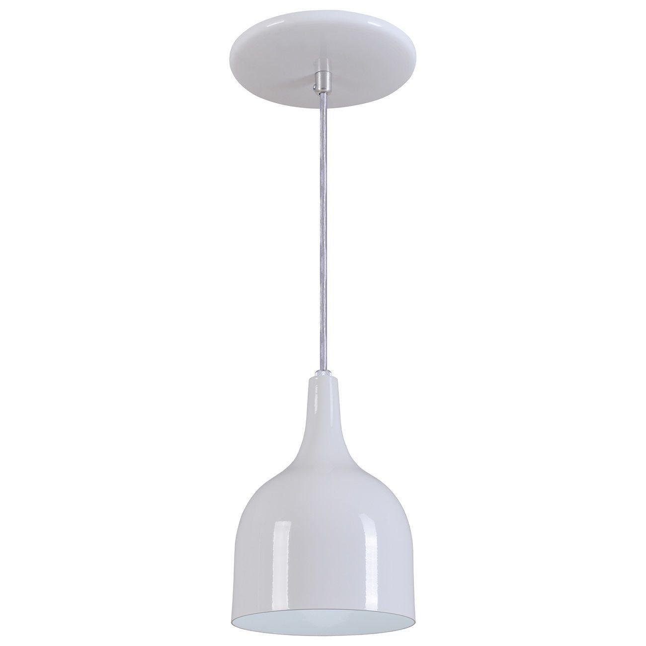 Pendente Gota Teat Luminária Lustre Alumínio Branco Brilhante - Rei Da Iluminação