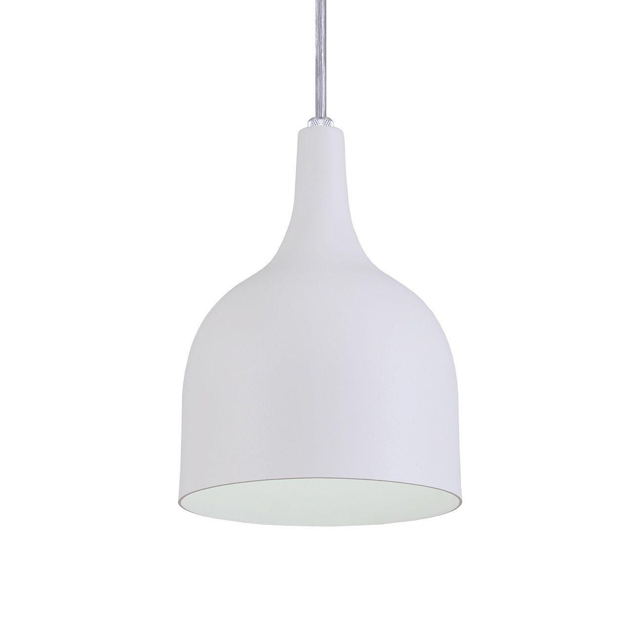 Pendente Gota Teat Luminária Lustre Alumínio Branco Textura - Rei Da Iluminação