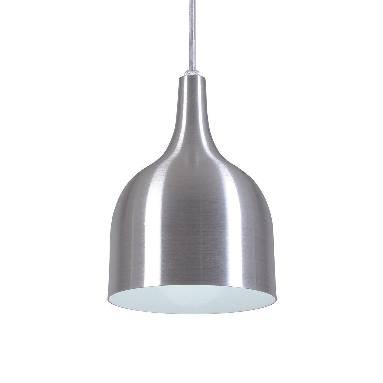 Pendente Gota Teat Luminária Lustre Alumínio Escovado - Rei Da Iluminação