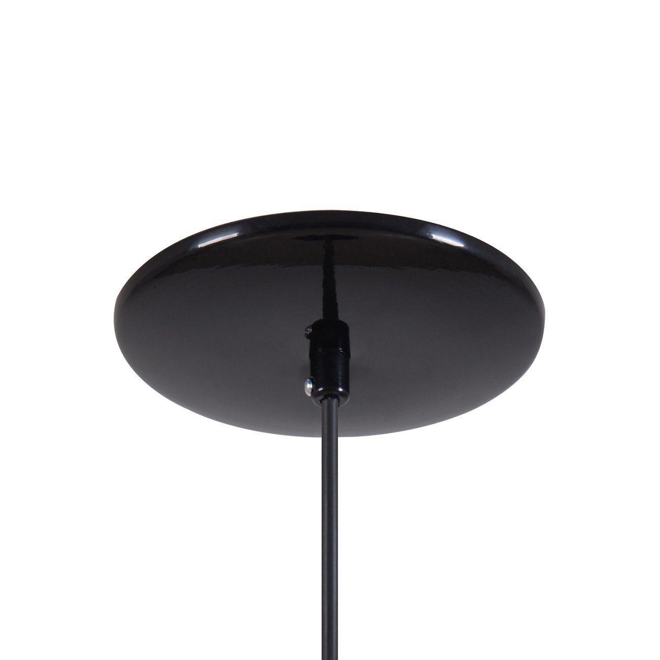 Pendente Gota Teat Luminária Lustre Alumínio Preto Brilhante C/ Cobre - Rei Da Iluminação