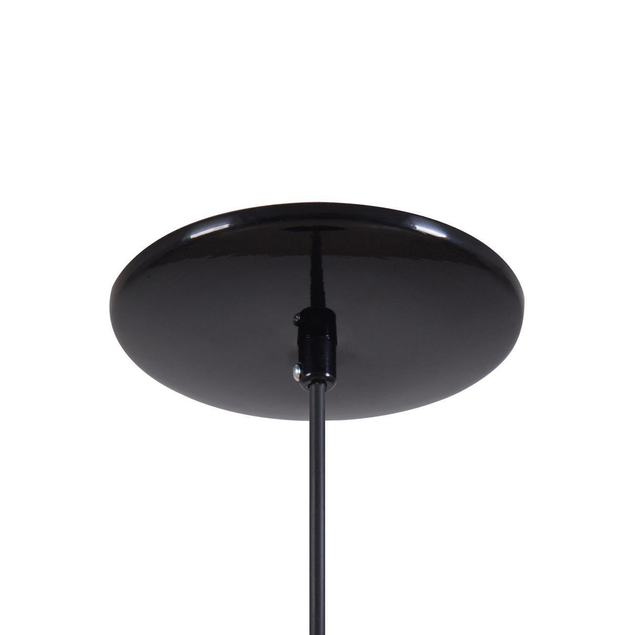 Pendente Gota Teat Luminária Lustre Alumínio Preto Brilhante C/ Laranja - Rei Da Iluminação