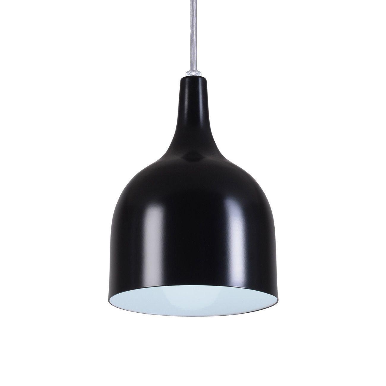 Pendente Gota Teat Luminária Lustre Alumínio Preto Fosco - Rei Da Iluminação