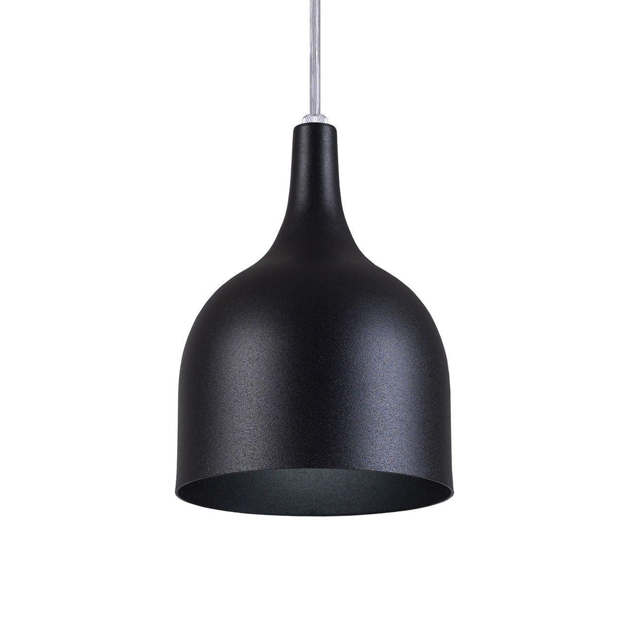 Pendente Gota Teat Luminária Lustre Alumínio Preto Textura - Rei Da Iluminação
