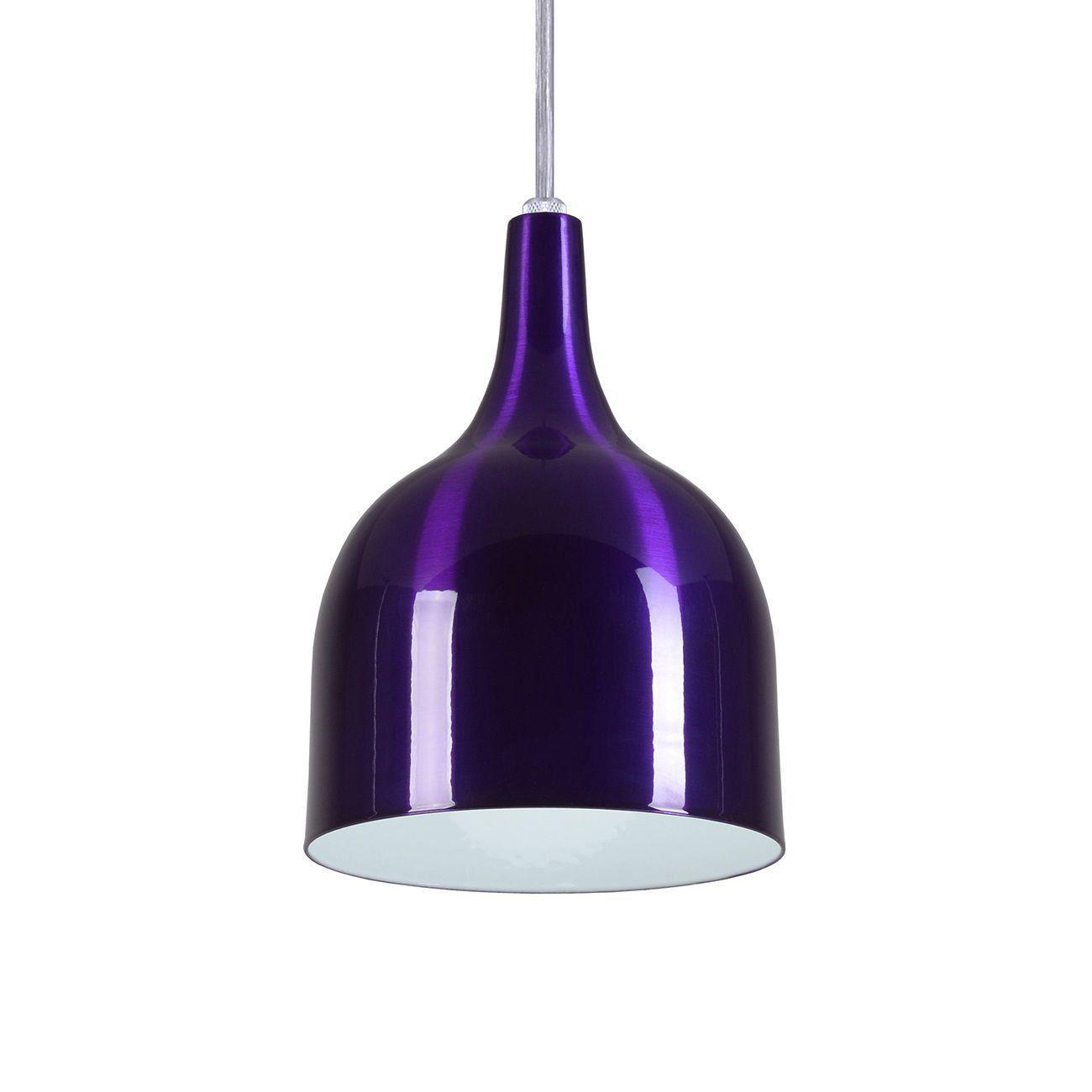 Pendente Gota Teat Luminária Lustre Alumínio Roxo Verniz - Rei Da Iluminação