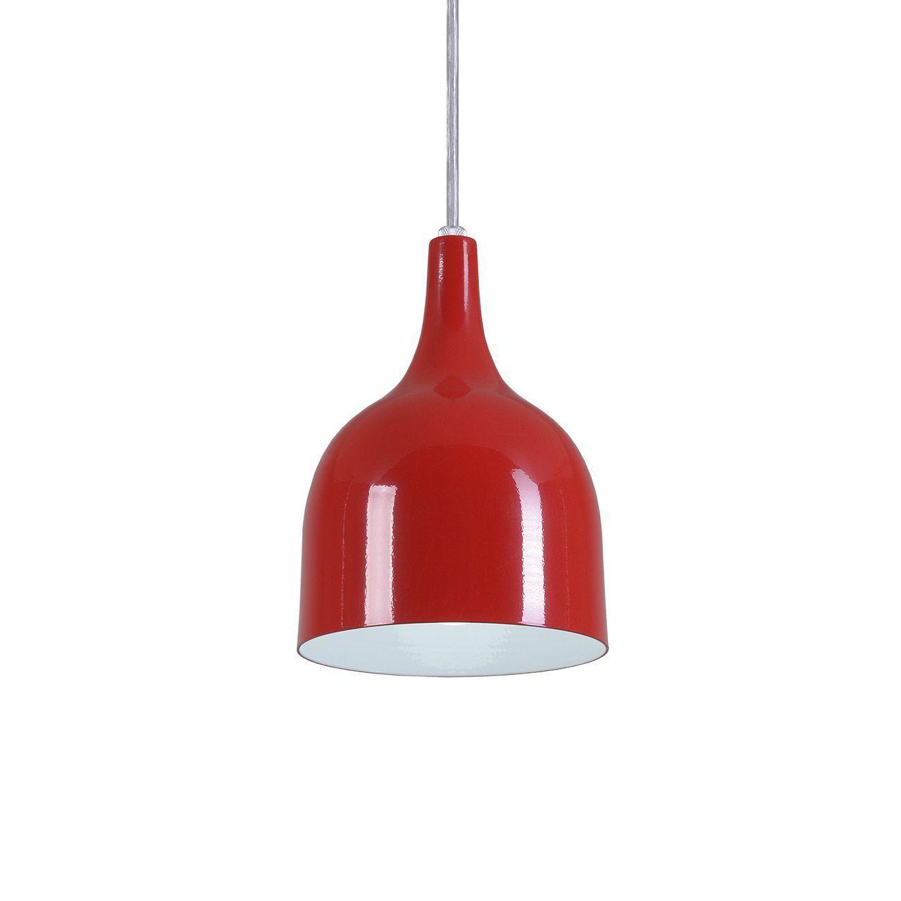 Pendente Gota Teat Luminária Lustre Alumínio Vermelho - Rei Da Iluminação