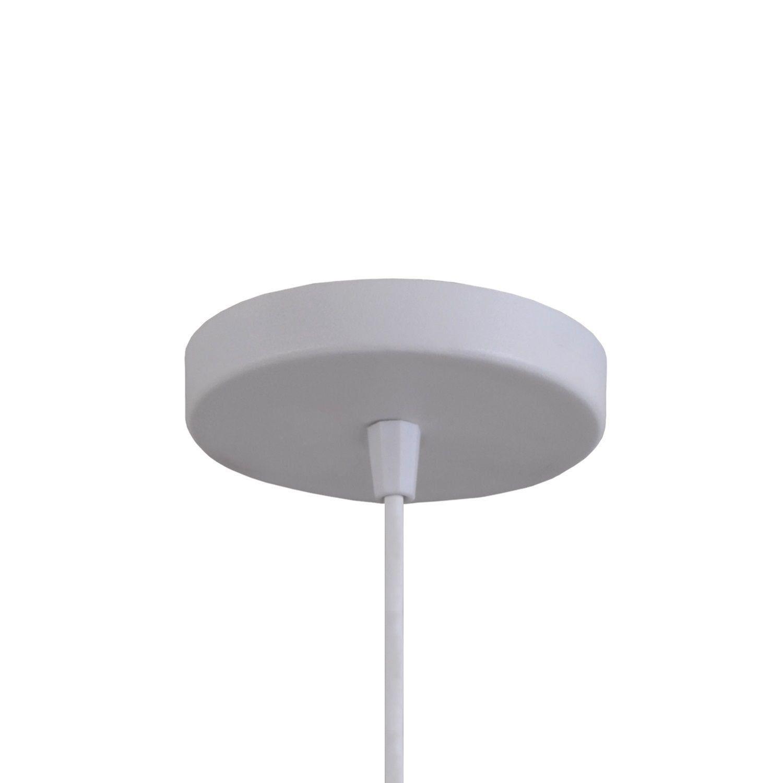Pendente Luminária Tom Dixon Balão New York Branco Textura C/ Cobre - Rei da Iluminação