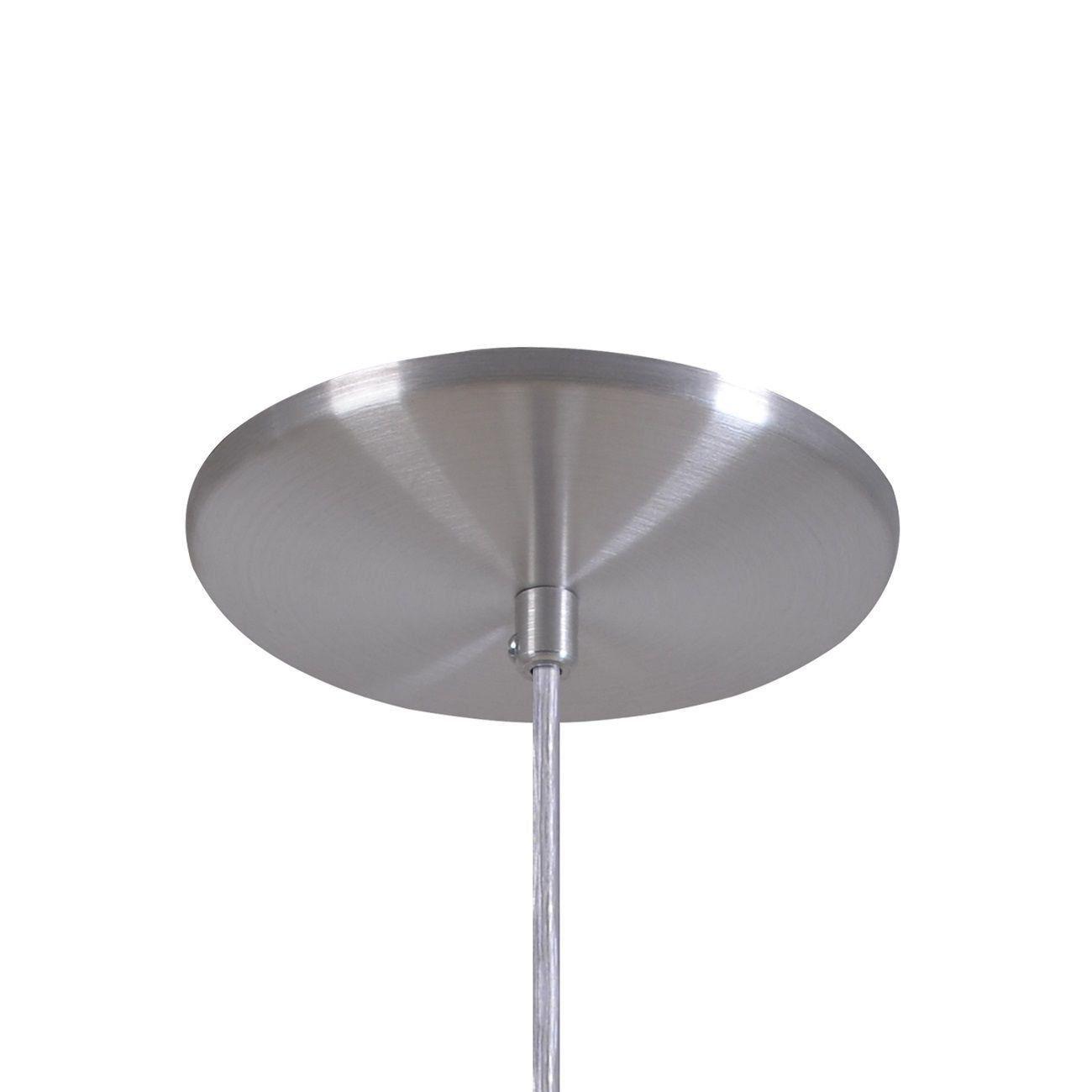 Pendente Retrô 34cm Luminária Lustre Alumínio Escovado - Rei Da Iluminação